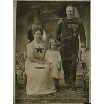 1912 Press Photo Queen Wilhelmina, Prince Henry Family Photo, Netherlands