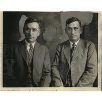 1928 Press Photo Brothers George Sharp, Judge Summers Sharp of West Virginia