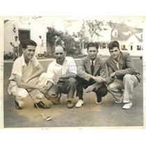 1936 Press Photo Patrick Abbott, Bruno W. Pardee, Claude B. Rippy in Tournament