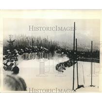 1932 Press Photo Bob Sled Tragedy Three Spectators killed Zakelfall Course
