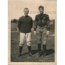 1924 Press Photo Coach Bill Roper with Capt. E.C.Stout Princeton University