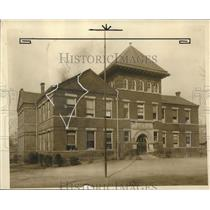 1928 Press Photo Alabama-Birmingham Woodlawn School building exterior