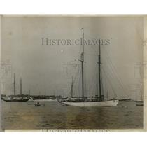 1928 Press Photo New York Yacht Mohawk owned by Dudley Wolfe in NYC  - neny23437
