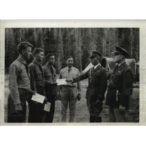 1935 Press Photo CCC boys receiving certificates from Idaho Board of Education