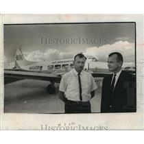 1965 Press Photo John Dettl and John Conway, Air Wisconsin - mja94008