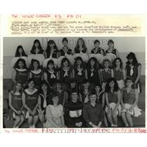1988 Press Photo Sponsors of Pep Squad and Cheerleaders Immaculate School