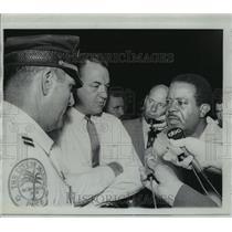 1968 Press Photo Governor Claude Kirk, Reverend Ralph Abernathy, and Jack Maddox