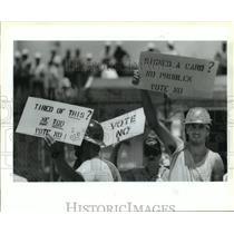 1993 Press Photo Avondale Shipyard - Demonstrators Show Support for Union