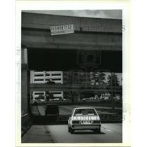 1993 Press Photo New Orleans - Sign Urges Avondale Employees Favor Labor Union