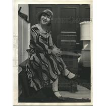 1929 Press Photo Toshiko Sekiya about liner Teno Maru from San Francisco