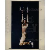 1994 Press Photo Woman performs exercise fashion gym - RRX35173