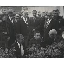 1963 Press Photo City accepts Explorer Scout Project at Coliseum in Spokane