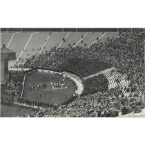 1929 Press Photo University of California stadium during 1929 graduation rites