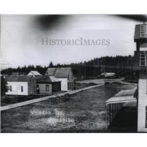 1890 Press Photo Buildings along Wiskah Street in Aberdeen, Washington