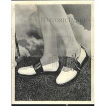 1960 Press Photo Golf Shoes William Joyce - RRW43897