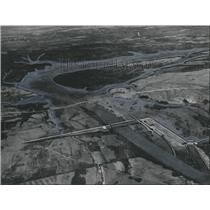 1965 Press Photo Alabama- Miller's Ferry Lock and Dam superimposed on area photo