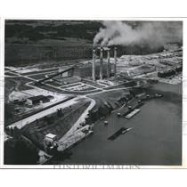 1960 Press Photo Alabama-Aerial view of Colbert Pickwick Steam Plant.