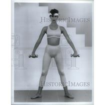 1996 Press Photo Picture shows Lady Exercise Dumbbell - RRX35179