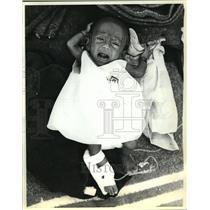 1979 Press Photo Cambodian child in the Sa Kaso refugee camp Kaeo, Thailand
