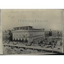 1928 Press Photo Architects drawing of a proposed New York coliseum - mja83486
