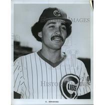 1978 Press Photo Willie Hernandez, baseball pitcher, Cubs - mja84563