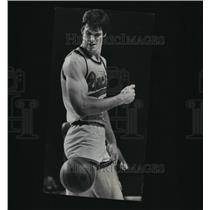 1977 Press Photo Swen Nater, Milwaukee Bucks, reacted in disgust at a foul call.