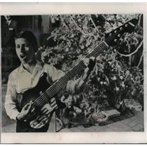 1966 Press Photo Cuban Refugee Jose Castillo is the proud owner of a new guitar