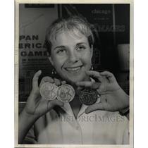 1959 Press Photo Pan American Games Medals - RRW24685