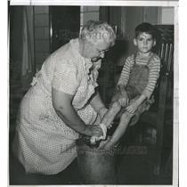1949 Press Photo Frances King Denver city jail Donald - RRX89563