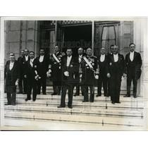 1938 Press Photo Japanese Cabinet Members After Diet Session in Tokyo