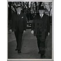1946 Press Photo Mr. William Hutcheson of Carpenters Union & John L Lewis of UMW