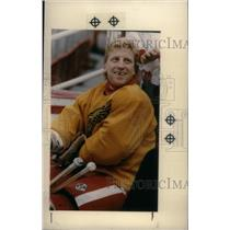 1990 Press Photo Glen Hanlon Detroit Red Wings Goalie - RRX39769