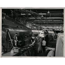1937 Press Photo Douglas Aircraft Factory First Day - RRW64593