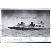 1982 Press Photo Race Boat S-55, Yaller Dawg Battles Fo