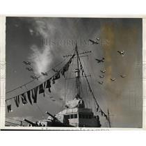 1935 Press Photo Anti-Aircraft Gun Make Destroyer Dale Last Word in Naval Design