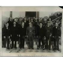 1933 Press Photo Peruvian Government Officials at Sanchez Cerro Funeral Services