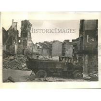 1940 Press Photo Chatuea Thierry in ruins after Nazi Conquest of France