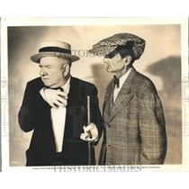 """Undated Press Photo WC Fields and Bill Wolf in Comedy Film """"Follow the Boys"""""""
