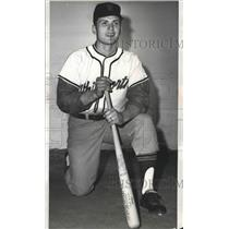 1966 Press Photo Whitworth baseball player, Dick Washburn - sps08587