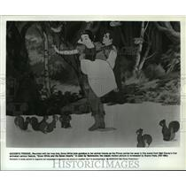 1937 Press Photo A scene from Snow White and the Seven Dwarfs from Walt Disney.