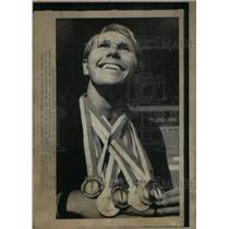 1971 Press Photo Frank Heckl 6 Gold Medals Pan-Am Games - RRX58567