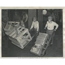 1945 Press Photo Chicago Area Truckers Strike