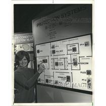 1973 Press Photo Honeywell Computer Building Control - RRW40715