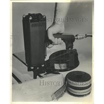 1968 Press Photo Duo Fast Fastener Corp Goodrich Nailer - RRW42133