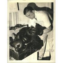 1937 Press Photo Tommy Far British Heavyweight Champion in New Jersey