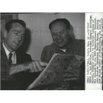 1960 Press Photo Bob Mathias, two-time Olympic decathlon winner, and Ray Arnett