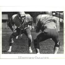 1992 Press Photo Post Falls football quarterback, Troy Mattox - sps08916