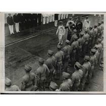 1938 Press Photo Prince Bertil of Sweden Arrives at Philadelphia Navy Yard