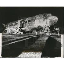 1949 Press Photo Unknow Wrecked Aircraft - nem35285
