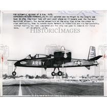 1958 Press Photo Armys New Doak 16 VTOL Plane as it Hovers Over Torrance Airport